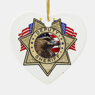 Sheriff Deputy Badge Christmas Ornament
