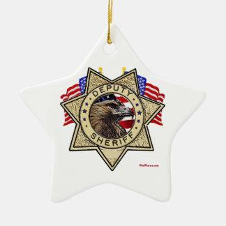 Sheriff Deputy Badge Ceramic Star Decoration