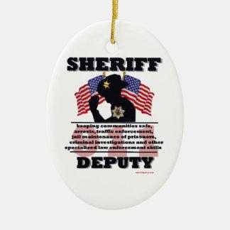 Sheriff_Deputy Ceramic Oval Decoration