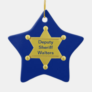 Sheriff Deputy Custom Christmas Star Ornament