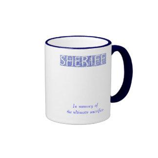 Sheriff Fallen hero Ringer Mug
