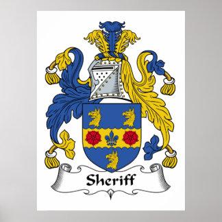 Sheriff Family Crest Poster