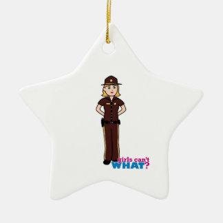 Sheriff Girl Ornament