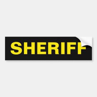 SHERIFF - Golden Yellow Logo Bumper Sticker