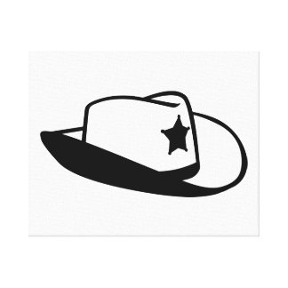 Sheriff hat stretched canvas print