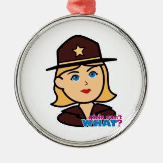 Sheriff Head - Light/Blonde Ornament