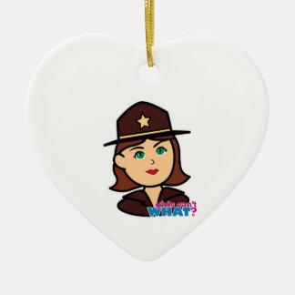 Sheriff Head - Medium Christmas Ornaments