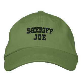 SHERIFF JOE Customizable Personalized Name Embroidered Hat
