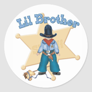 Sheriff Little Brother Classic Round Sticker