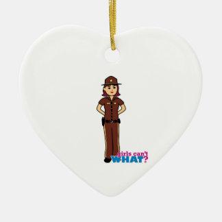 Sheriff - Medium Ceramic Heart Decoration