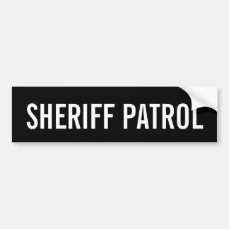 SHERIFF PATROL - White Logo Emblem Bumper Sticker