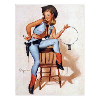Sheriff Pin-Up Postcards