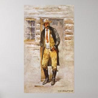 Sheriff Portrait by Seltzer, Vintage West Cowboy Poster