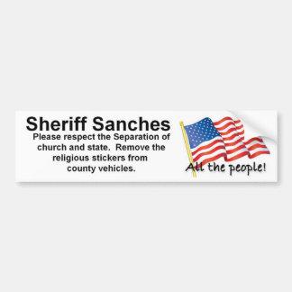 Sheriff Remove Stickers Bumper Sticker