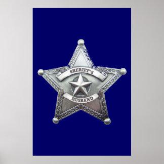 Sheriff s Husband Badge Poster