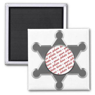 Sheriff s Tin Star Photo Frame Fridge Magnets