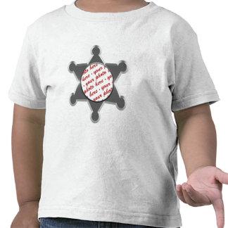 Sheriff s Tin Star Photo Frame Template Tee Shirt