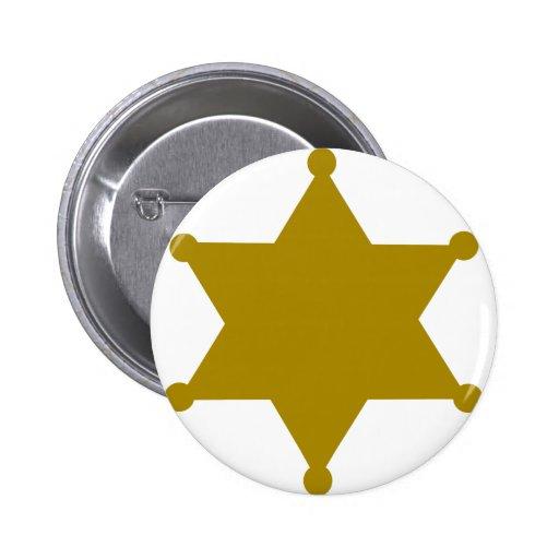 Sheriff star pinback button