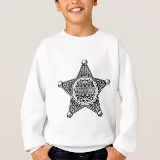 Sheriff Star Badge Engraved Style Sweatshirt
