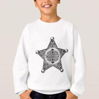 Sheriff Star Badge Woodcut Style Sweatshirt