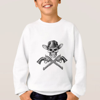 Sheriff Star Hat Skull and Pistols Sweatshirt