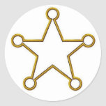 Sheriff Star Name badge Stickers