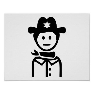 Sheriff uniform hat poster