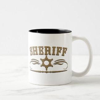 Sheriff Western Style Two-Tone Coffee Mug