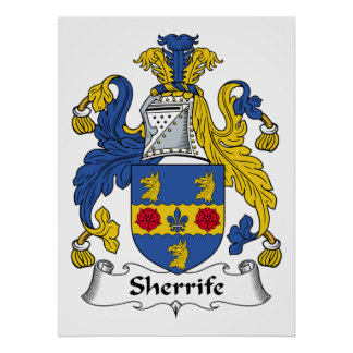 Sheriffe Family Crest Poster