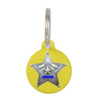 Sheriff's Badge Dog Tag Pet ID Tags