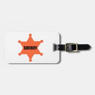 Sheriff's Badge Luggage Tag