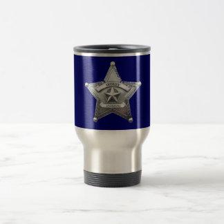 Sheriff's Custom Badge Stainless Steel Travel Mug