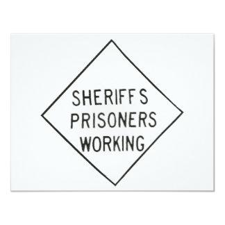 Sheriff's Prisoner 11 Cm X 14 Cm Invitation Card