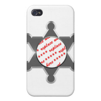 Sheriff's Tin Star Photo Frame Case For iPhone 4