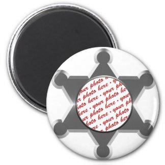 Sheriff's Tin Star Photo Frame Magnets