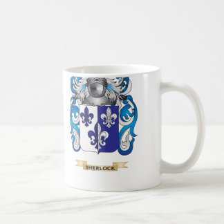 Sherlock Coat of Arms (Family Crest) Basic White Mug