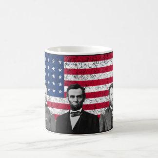 Sherman, Lincoln, and Grant with Black Border Basic White Mug