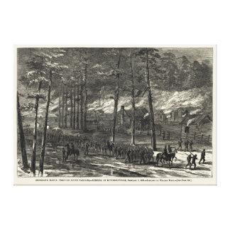 Sherman s March to the Sea Through South Carolina Canvas Prints