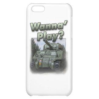 Sherman Tank - Wanna Play? iPhone 5C Cases