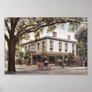 Sherman's Headquarters, Savannah, Georgia Vintage Poster