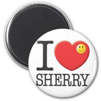 Sherry 6 Cm Round Magnet