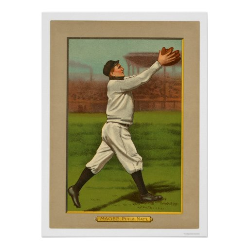 Sherry Magee Phillies Baseball 1911 Poster