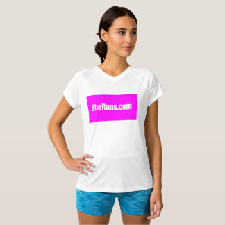 SheRuns.com Pink Square Running Club Workout Shirt