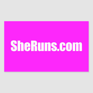 SheRuns.com Rectangle Sticker