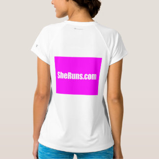 SheRuns.com Women's Sport-Tek Fitted V-Neck T-Shir T-Shirt
