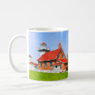 Sherwood Point Lighthouse Door County Coffee Mug