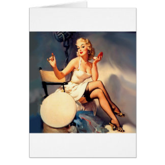 She's a Starlet Pin Up Girl Card