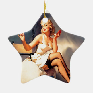 She's a Starlet Pin Up Girl Ceramic Star Decoration