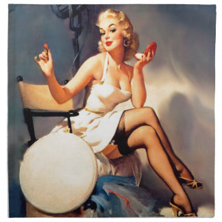She's a Starlet Pin Up Girl Cloth Napkin