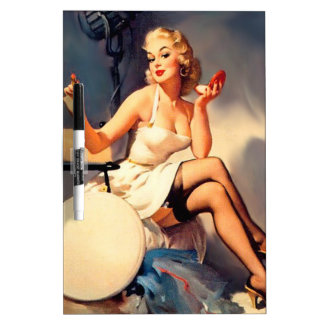 She's a Starlet Pin Up Girl Dry Erase Board